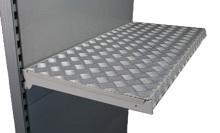 Tegometall Auflage für Fachboden 66,5/37cm Aluriffelblech
