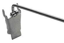 Tegometall Einfachhaken mit Klappverschluß, ZA 30 mm, L 120mm