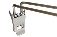 Tegometall Doppelhaken mit Klappverschluß und Preisfahne, ZA 30 mm, L 200