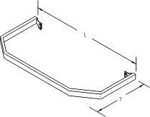 Tegometall Abweiser L1140 T 470 für Fußteil für Stirnfachboden