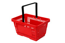 Tegometall Einkaufskorb 22 Liter rot