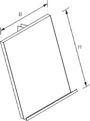Tegometall Ablage 215X310mm Einhängung mittig RAL 9006