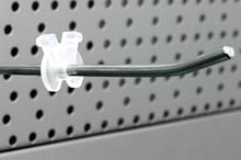 Tegometall Begrenzerclip Einfachhaken Kunststoff transparent