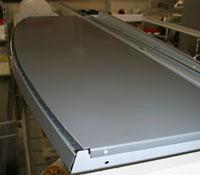 Tegometall Fachboden vorgesetzt rund L1250 T300mm RAL 9006