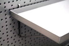 Tegometall Ablage für Rückwand RL L300 T200mm RAL 9006