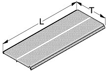Tegometall Fachboden quadrant L 665 T 770