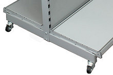Tegometall fahrbares Gondelregal H140cm Typ 30