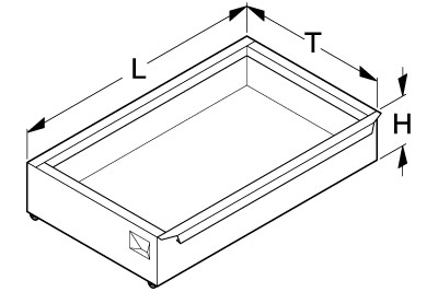 Tegometall Fußteilschublade H 100 L 625 T 370
