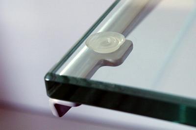 Glasauflagen für Winkelkonsolen