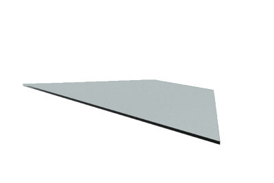 Tegometall Glasfachboden AE90° T470