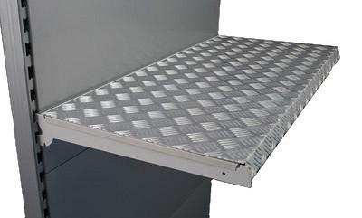 Tegometall Auflage für Fachboden 125/37cm Aluriffelblech