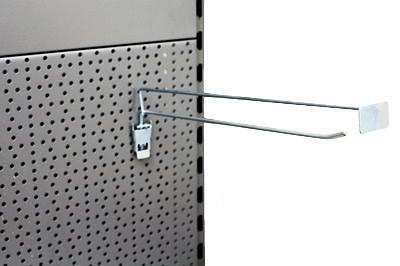 Einfach-Klapphaken T200 mit Preischildträger vorstehend