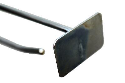 Tegometall Einfach-Klapphaken T200 mit Preischildträger vorstehend
