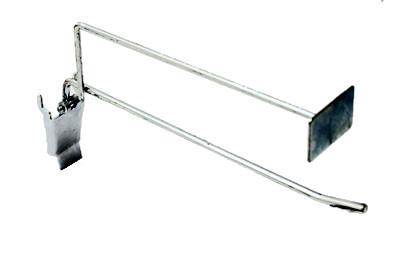 Tegometall Einfach-Klapphaken T200 mit Preischildträger zurückstehend