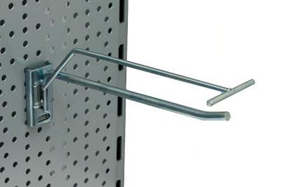 Tegometall Einfachhaken schwer mit Etikettenhalter L300