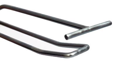 Tegometall Doppelhaken schwer mit Etikettenhalter L400