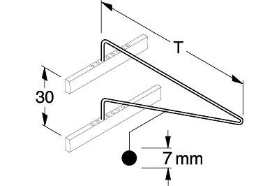 Halter schwenkbar T 750