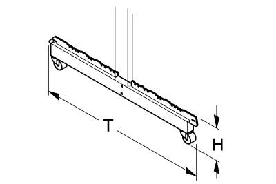 Fußteil H170 T800 für Gondelständer fahrbar