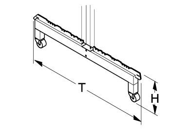 Fußteil H260 T800 für Gondelständer fahrbar