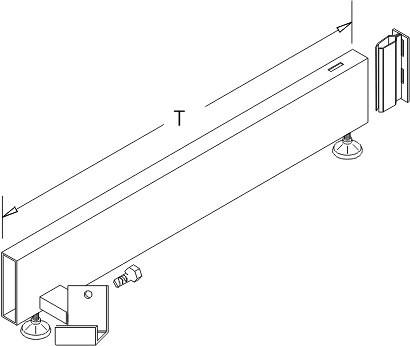 Tegometall Fußteil H160 T470 für Stirnfachboden