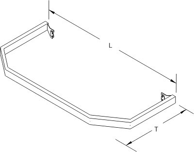 Tegometall Abweiser L1340 T 570 für Fußteil für Stirnfachboden