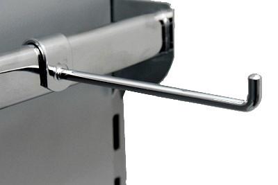 Aufsteckhalter T 12 cm verchromt