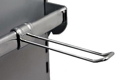 Aufsteckhalter doppelt T150mm verchromt