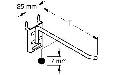 Tegometall Einfachhaken schwer L300