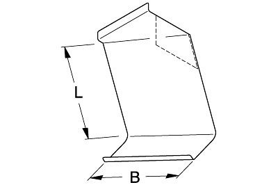 Tegometall Ablage für DIN A4 links