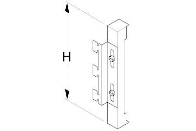 Tegometall Blendenträger für Blendenabschluss H 20