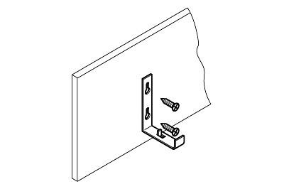 Tegometall Beleuchtungshalter für Holzblende