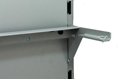 Tegometall Glasbodenrahmen klemmend L 1000 mm RAL 9006