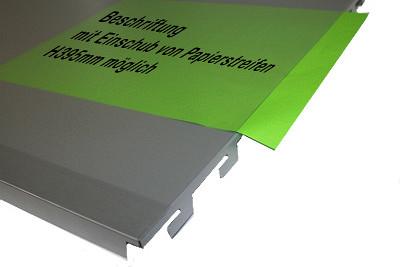 Tegometall Abdeckung quer L100 H40cm mit seitlichem Einschub