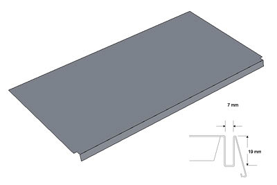 Tegometall Fachboden ausgeklinkt L 66,5 T60cm