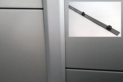 Tegometall Abdeckleiste rechts für Säulen H600mm