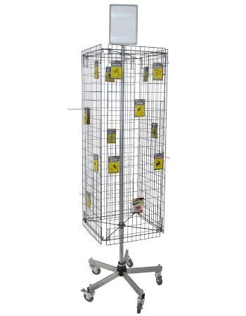 Tegometall Gitterständer mit 4 Gittern, fahrbar