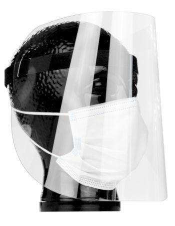 Gesichtsmaske / Gesichtsschild mit Haftverschlussband