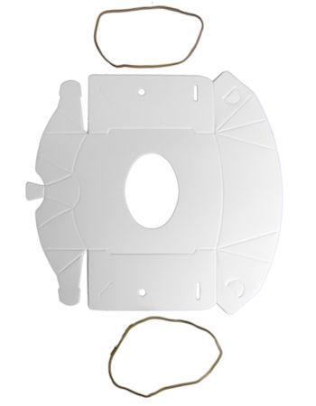 Tegometall 20 Stück Mund-Nasen-Maske aus Pappkarton