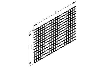Drahtgittermatte 1000 X 650 mm RAL 9001