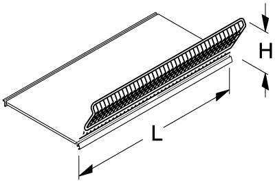 Frontgitter für Fachbodenkorb L 1250 H 180