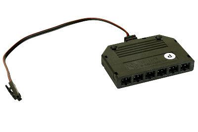Tegometall 6-fach Verteiler für LED-Unterbauleuchten