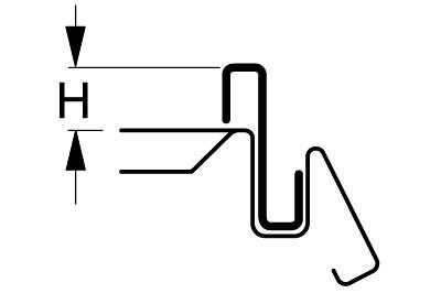 Abteilleiste H 10 L 1250