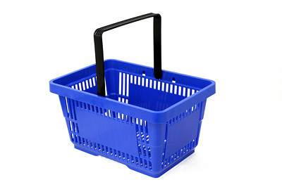 Tegometall Einkaufskorb 22 Liter blau