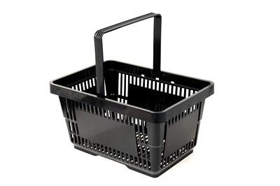 Tegometall Einkaufskorb 22 Liter schwarz