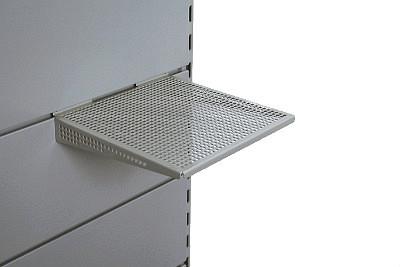 Tegometall Ablage mit 3-seitiger Abkantung quadr. 20X20 RAL 9006