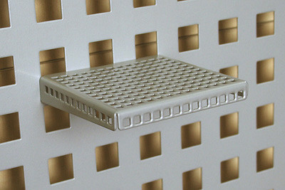 Tegometall Ablage mit 3-seitg. Abkantung T100 B200 RAL 9006
