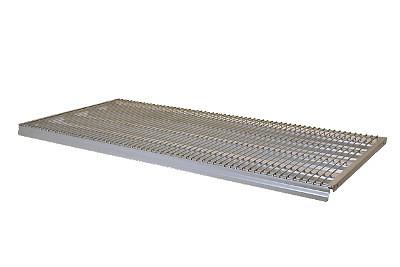 Tegometall Gitterboden m. Preisschienenhalterg. L 1000 T 470 RAL 9006