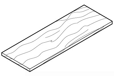 Tegometall Holzfachboden L 1250 T 300 Buche
