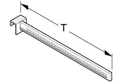 Aufsteckhalter gelocht T55cm