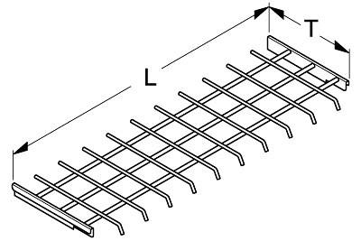 Gittereinsatz für Halterahmen L66,5 T45cm